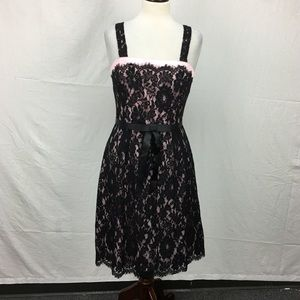 Laundry by Shelli Segal Black Lace Overlay Dress